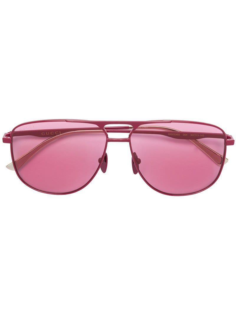 c1938c305c5 Gucci Aviator Frame Sunglasses in Pink for Men - Lyst
