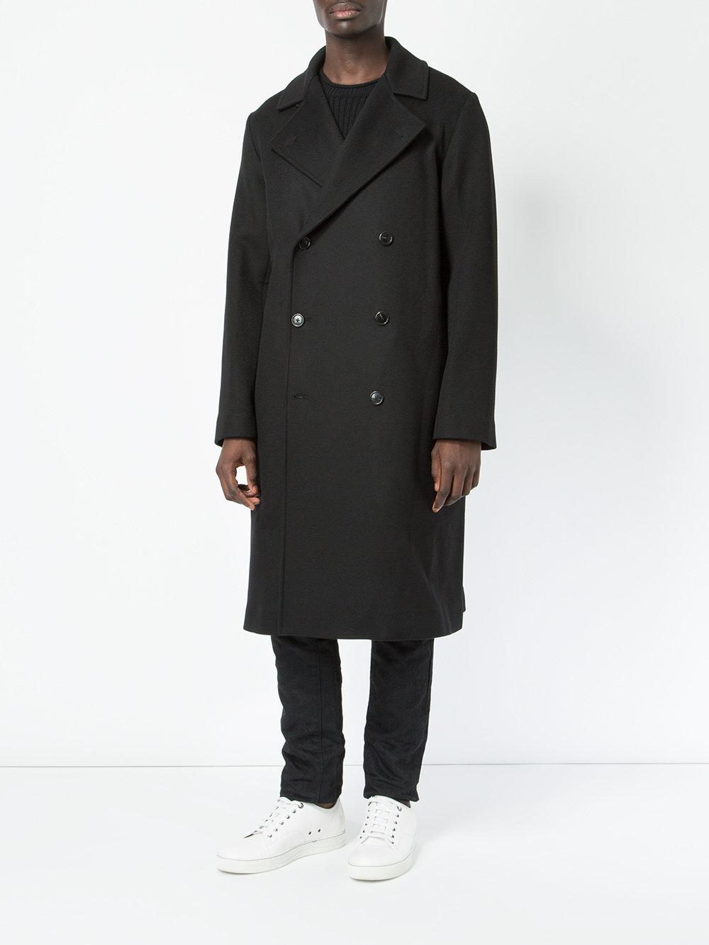 Lyst - Ports 1961 Cappotto Doppiopetto in Black for Men 85b80243919c