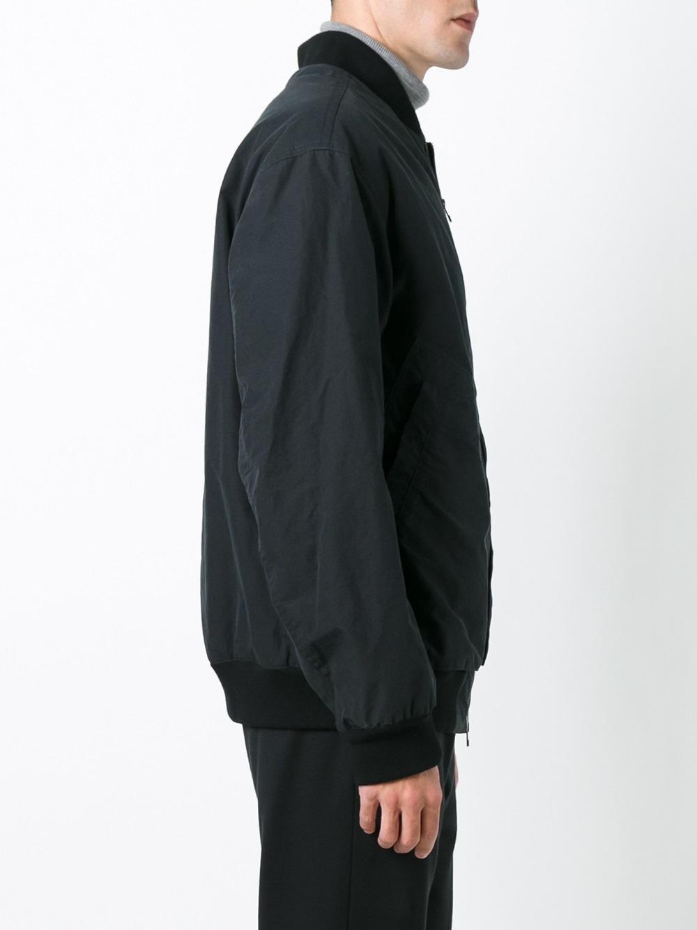 Helmut Lang Wool Classic Bomber Jacket in Black for Men