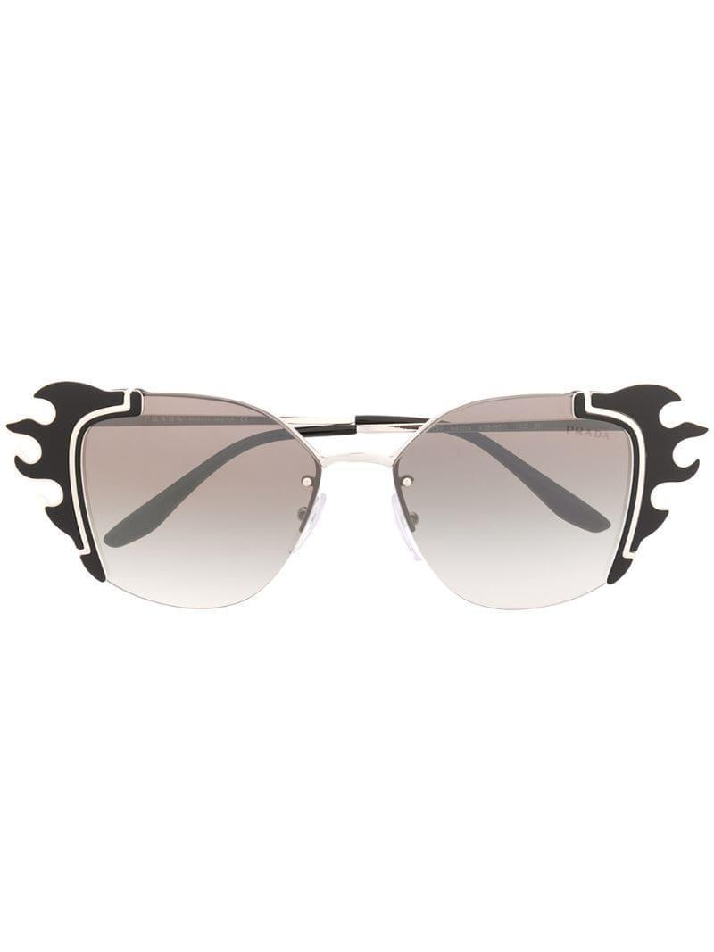 e40af071df Gafas de sol Ornate Prada de color Negro - 13 % de descuento - Lyst