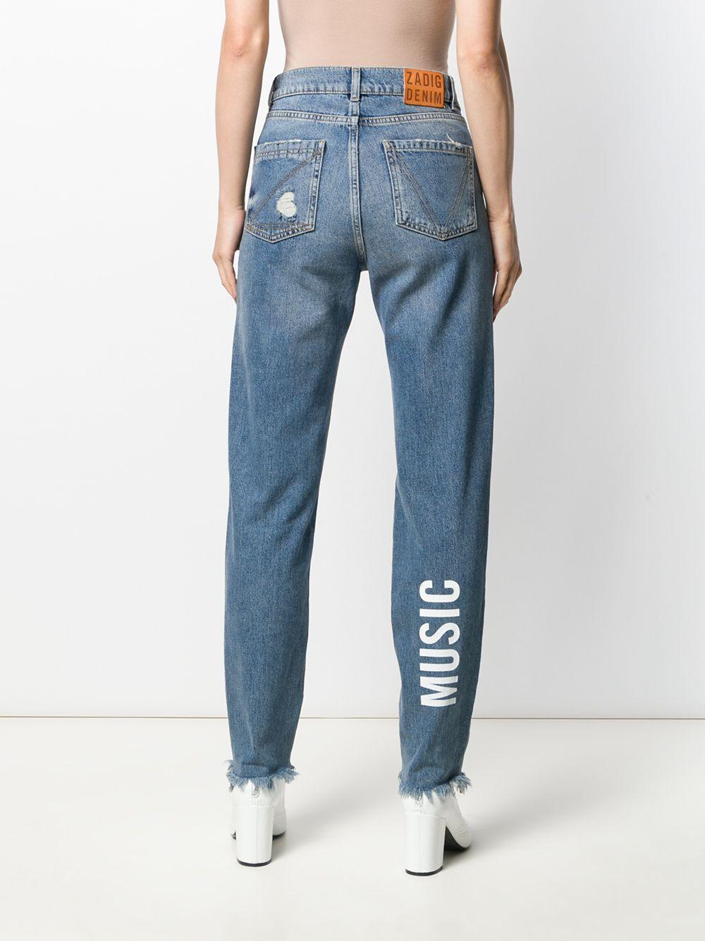 Zadig & Voltaire Denim Mom-Jeans im Distressed-Look in Blau Qtac2