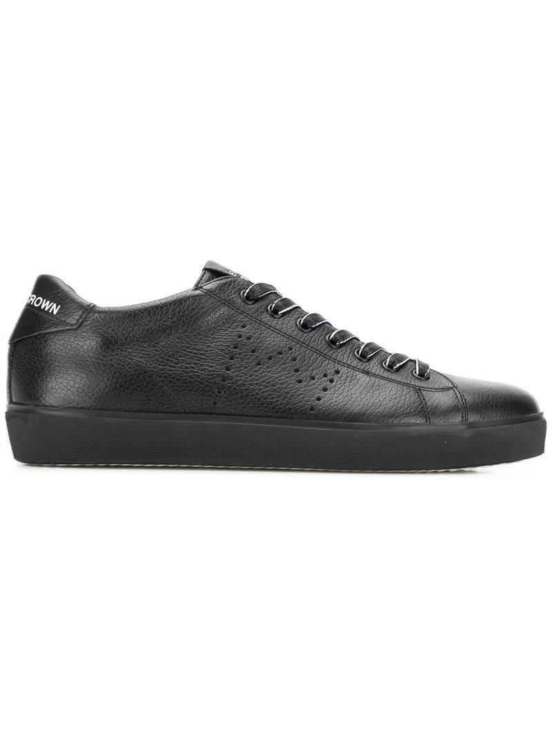 9dc16fbb2db83b Lyst - Leather Crown Lace-up Sneakers in Black for Men