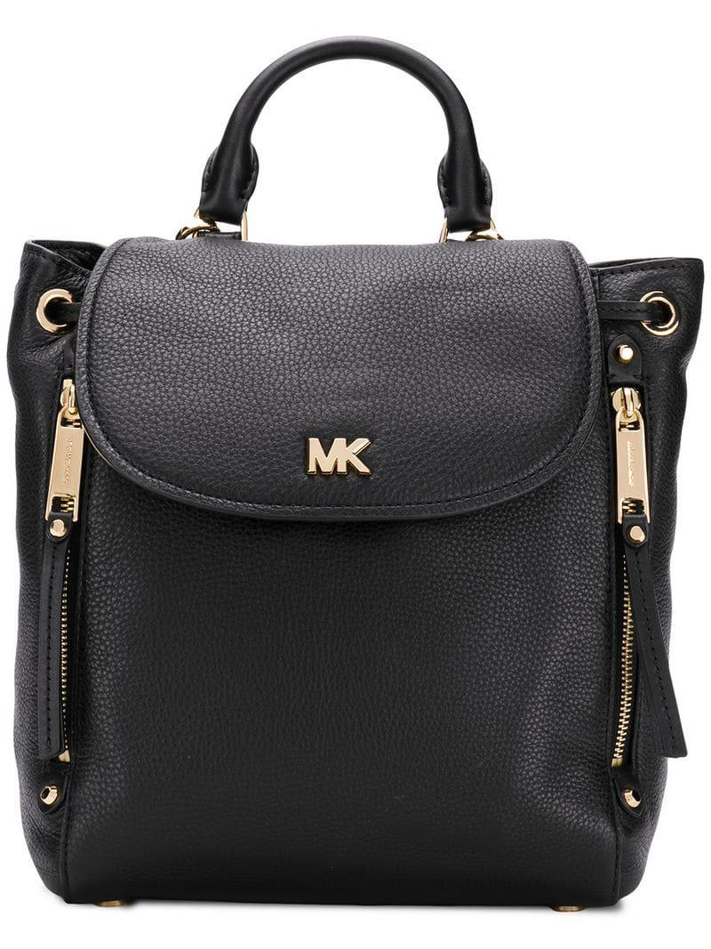 380e5327547f Michael Michael Kors Evie Backpack in Black - Lyst