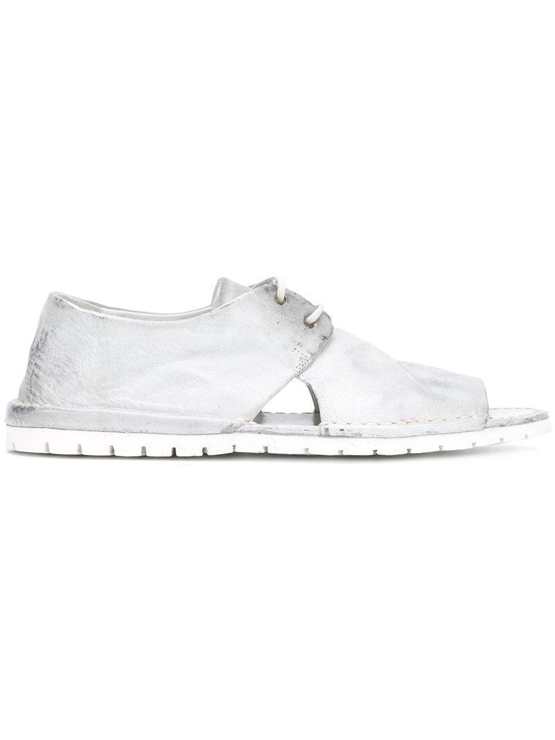 Edición Limitada Precio Barato Marsèll lace-up metallic sandals - Grey farfetch bianco Envío Gratis Fotos Venta En Línea Toma De La Venta En Línea N9tNcl