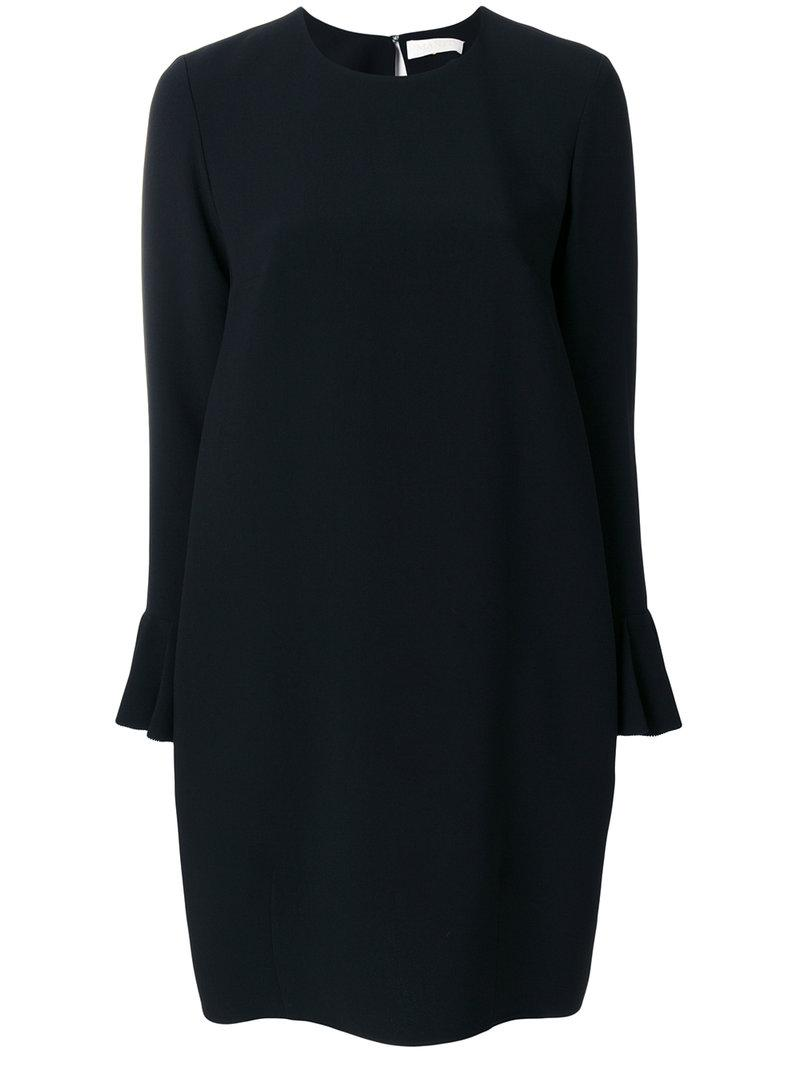 Mantu Synthetic Classic Shift Dress In Black Lyst