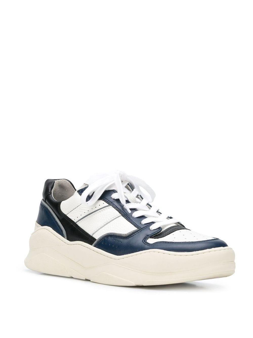 AMI Leder Sneakers mit Oversized-Sohle in Blau für Herren Hc68j