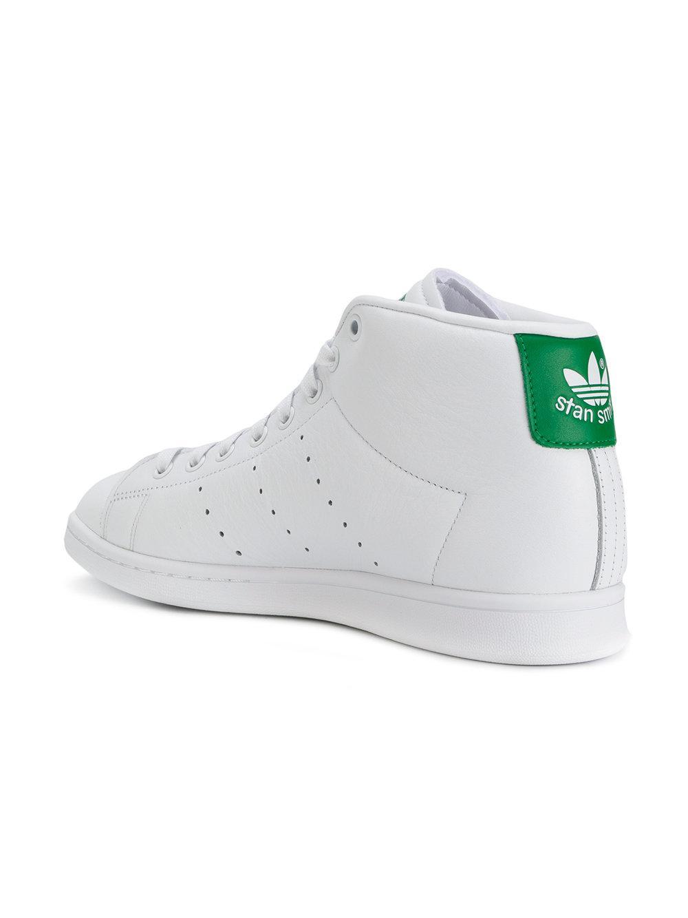 Baskets montantes Stan Smith Originals Cuir adidas pour homme en ...