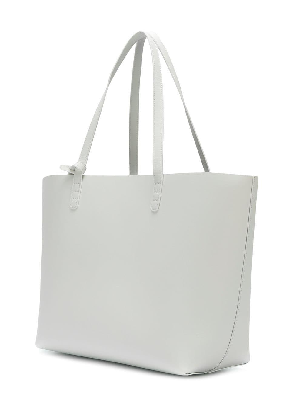 Mansur Gavriel Leather Large Tote in White