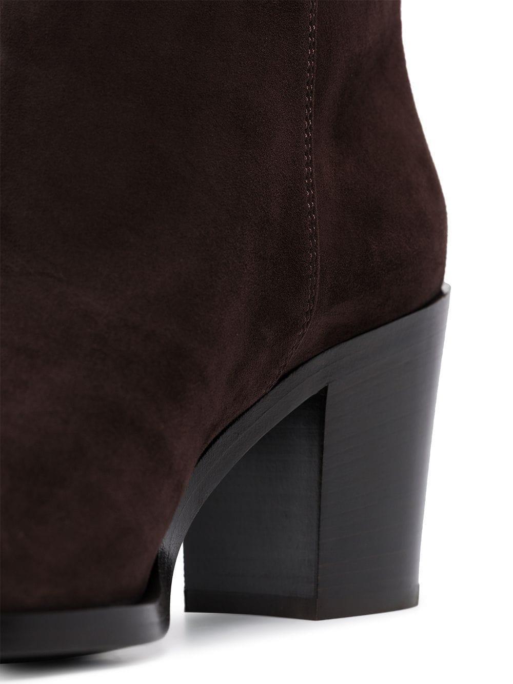 Botas altas 70mm Gianvito Rossi de Ante de color Marrón