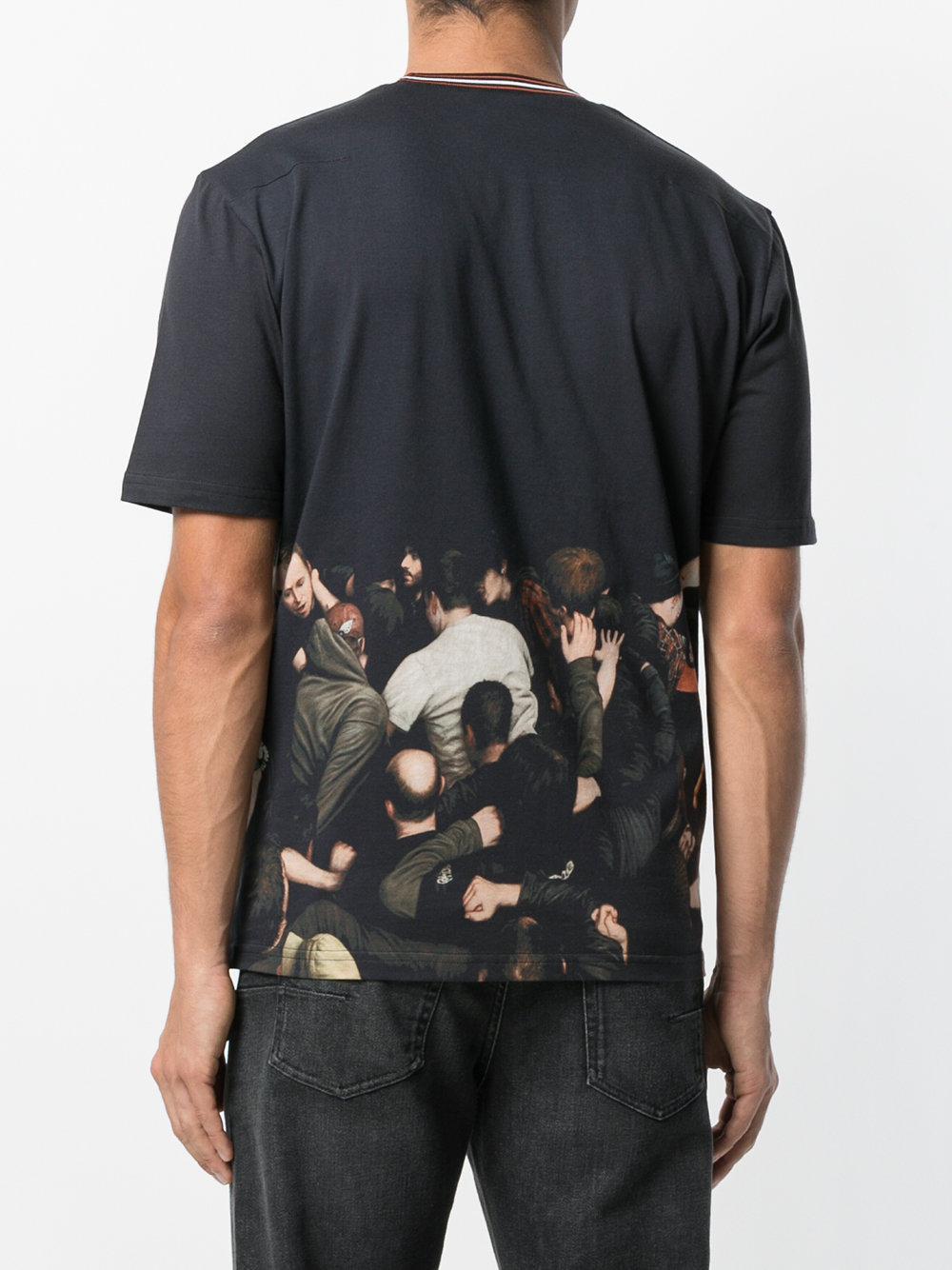 lyst dior homme printed t shirt in black for men. Black Bedroom Furniture Sets. Home Design Ideas