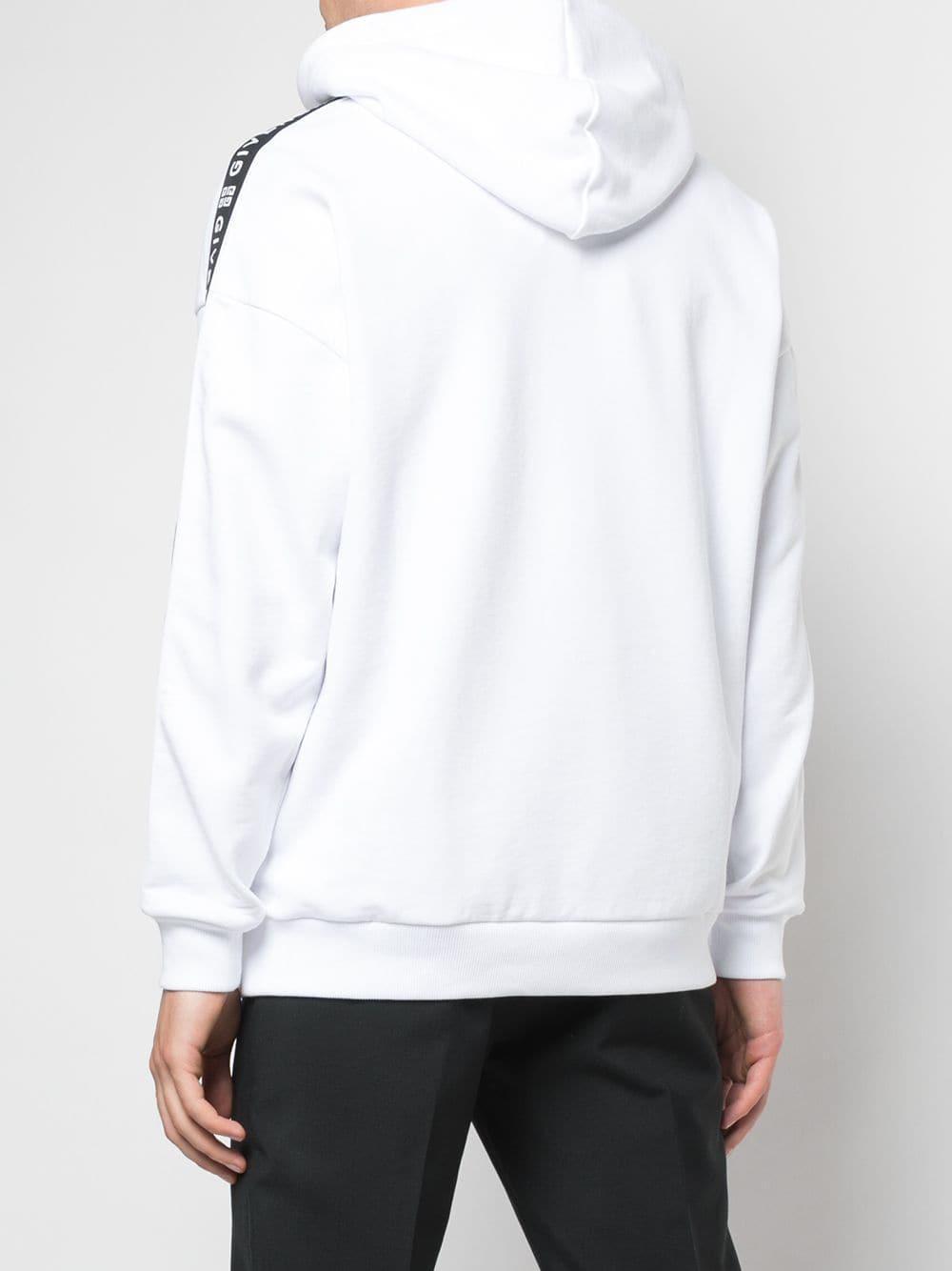 Givenchy Katoen Hoodie Met Merk in het Wit voor heren