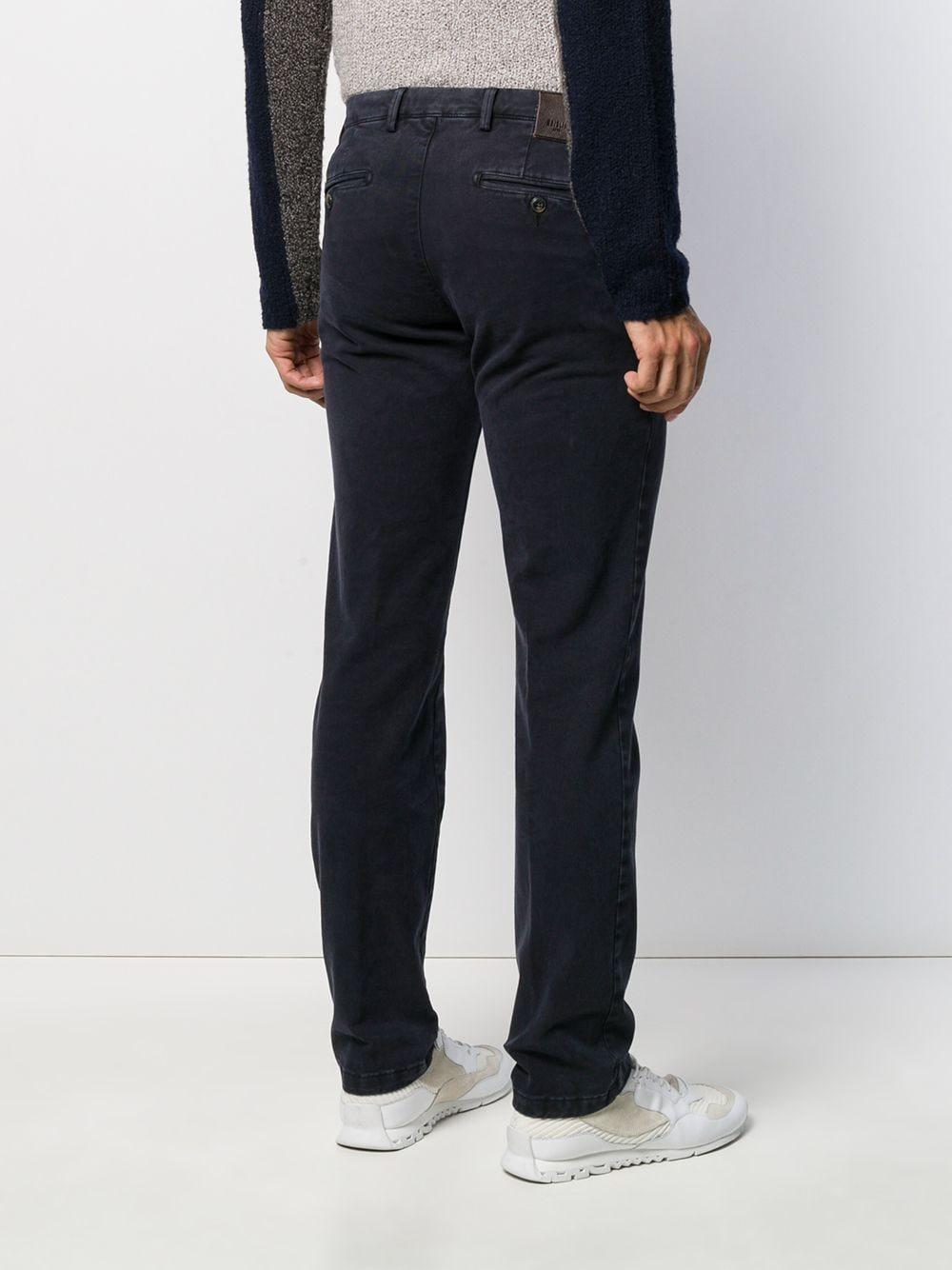 Dell'Oglio Katoen Regular-fit Broek in het Blauw voor heren