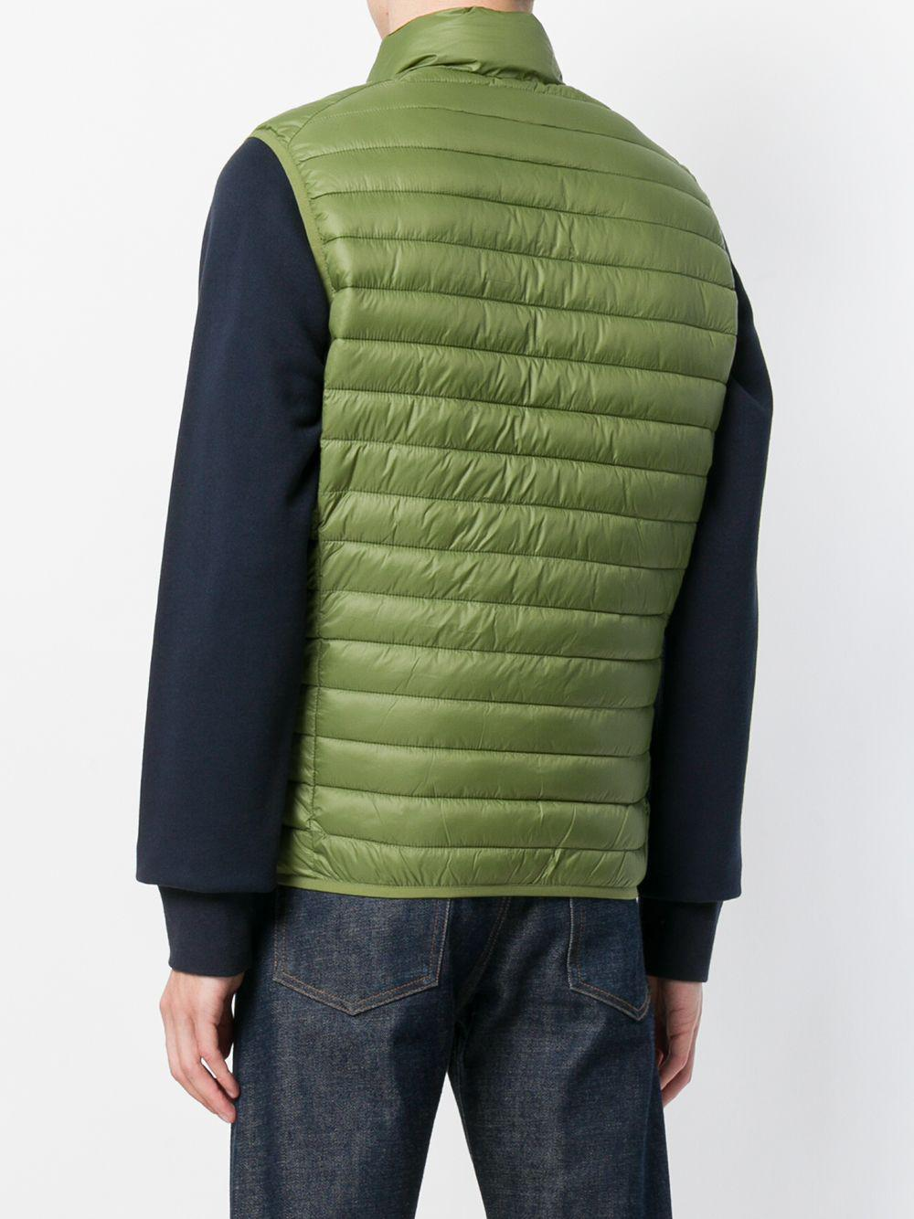 1585f475a9d Lyst - Save The Duck Padded Gilet in Green for Men