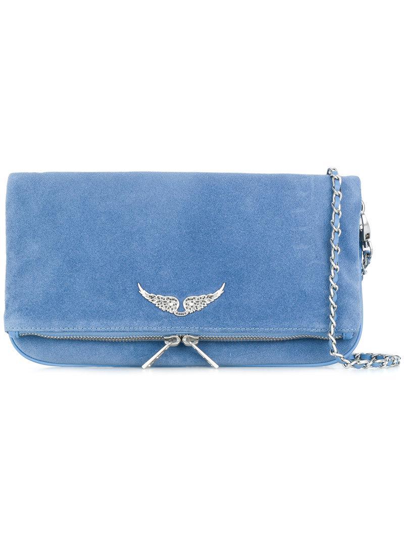 d1ea1eea77a Lyst - Bolso de hombro Rock Zadig   Voltaire de color Azul