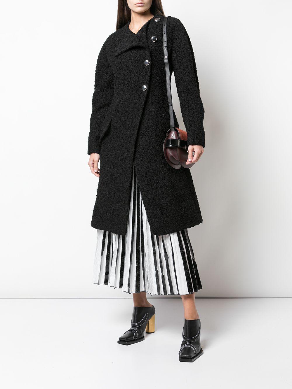 Manteau en tweed Proenza Schouler en coloris Noir ebBtF