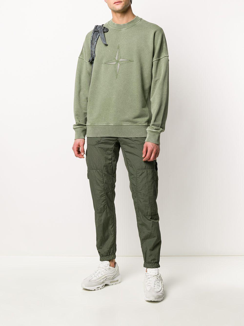 Stone Island Synthetic Mid-rise Logo-patch Cargo Trousers ...