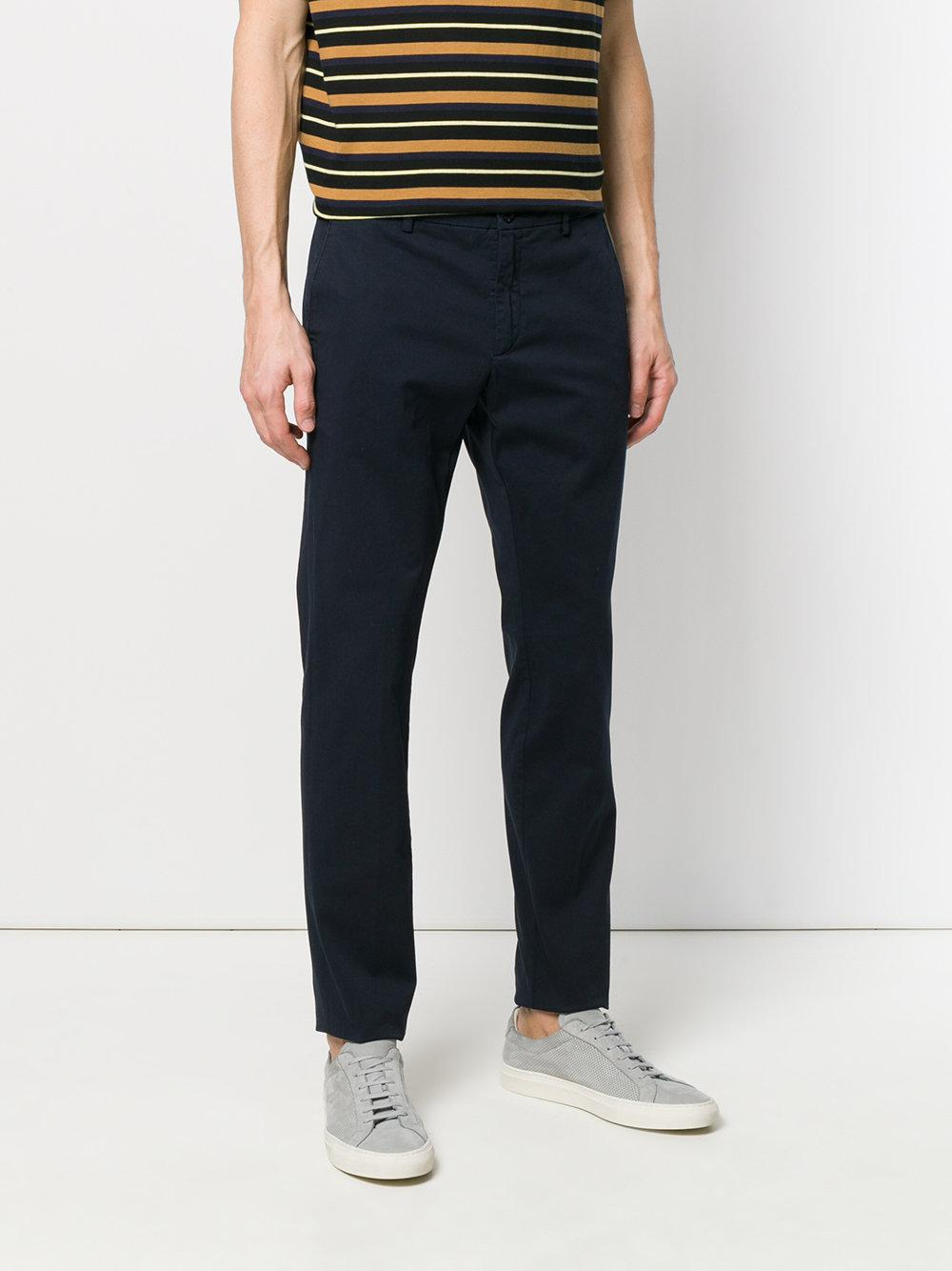 Department 5 Cotton David Trousers in Blue for Men