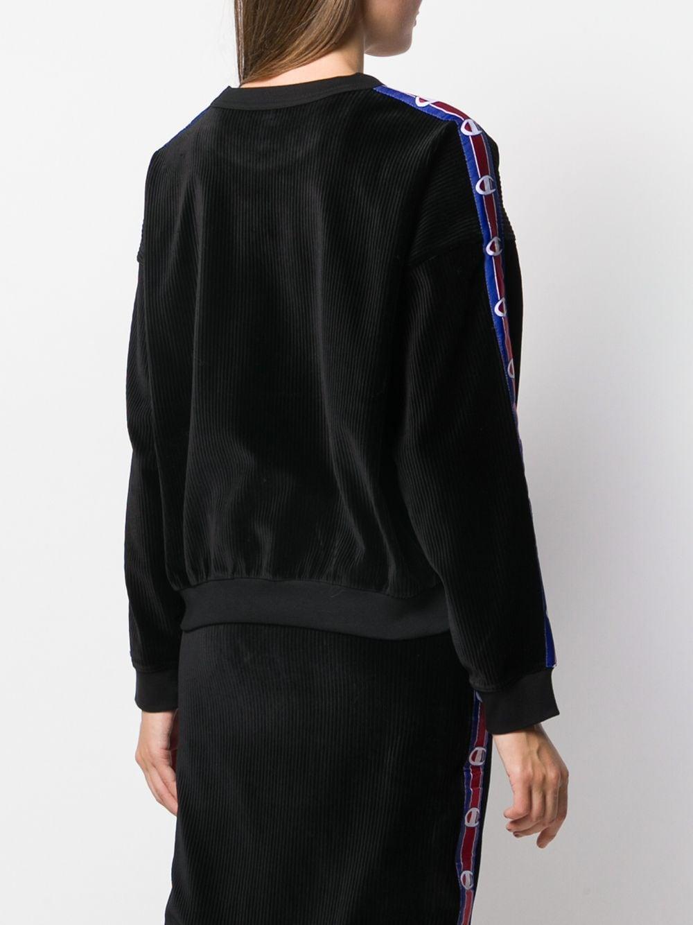 Sudadera holgada con logo Champion de Tejido sintético de color Negro