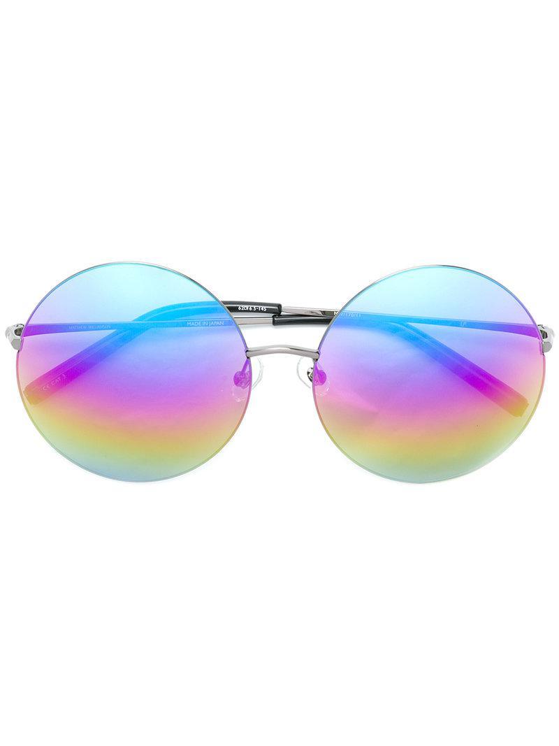 Metallic Frame Lyst Matthew Round Rainbow Sunglasses In Williamson bDeHYE2IW9