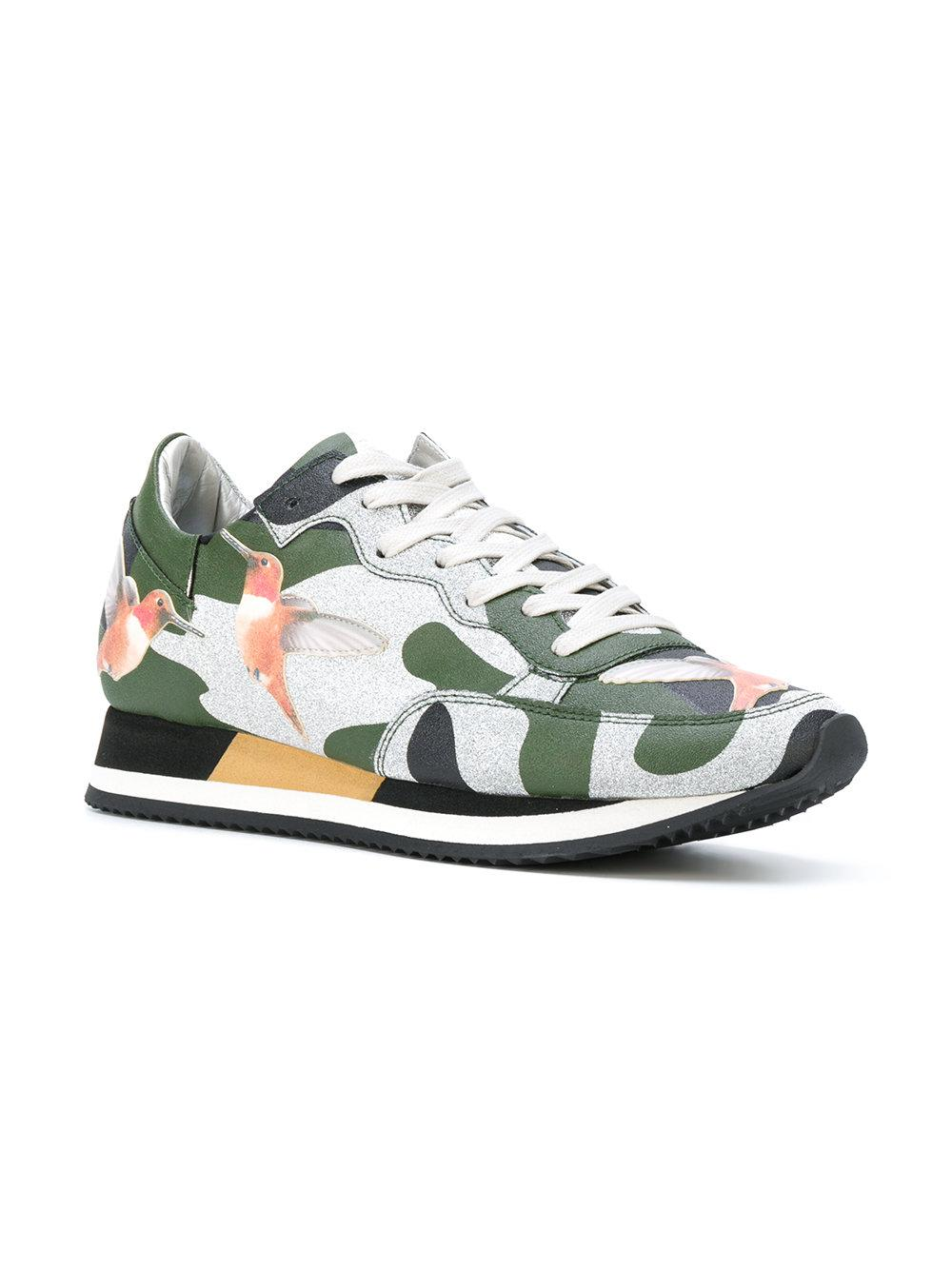 Philippe Model Leather Paradis Sneakers in Green