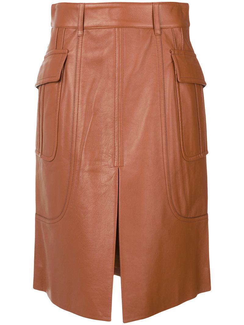 Brown Straight Skirt 114