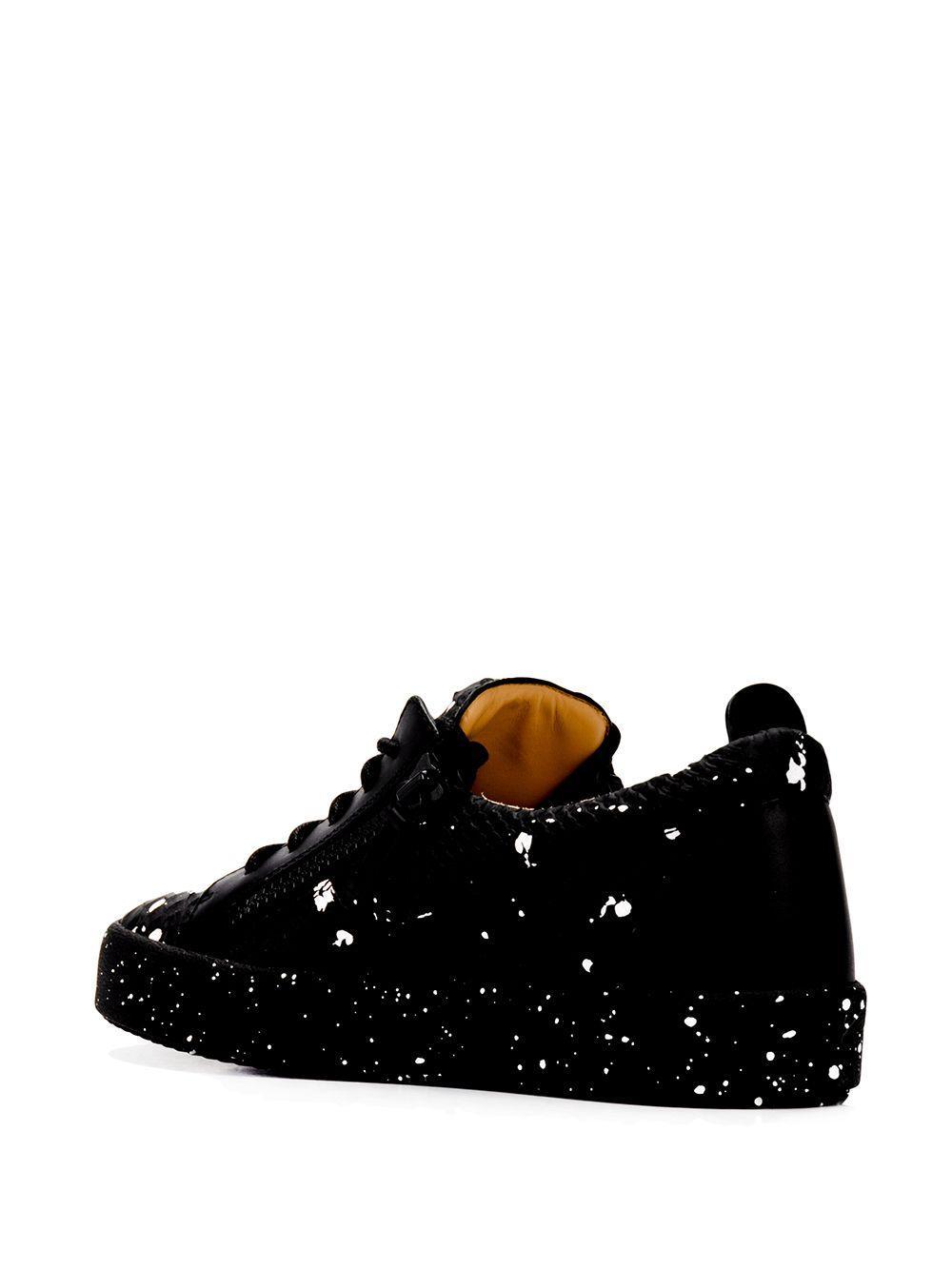 Zapatillas Gail con efecto de piel de pitón Giuseppe Zanotti de Cuero de color Negro para hombre