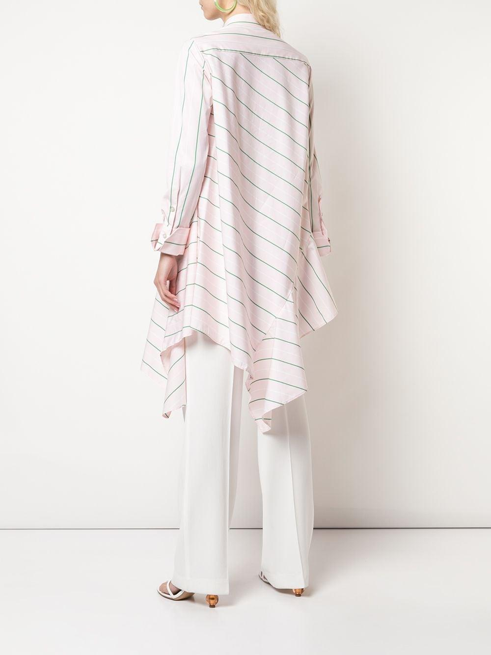 Camisa a rayas con dobladillo asimétrico Palmer//Harding de Algodón de color Rosa