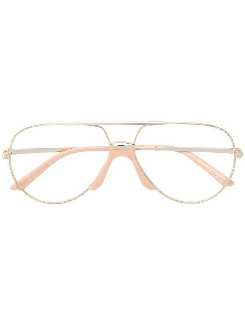 c276fb61b691f Gucci Aviator Frame Glasses in Metallic for Men - Lyst