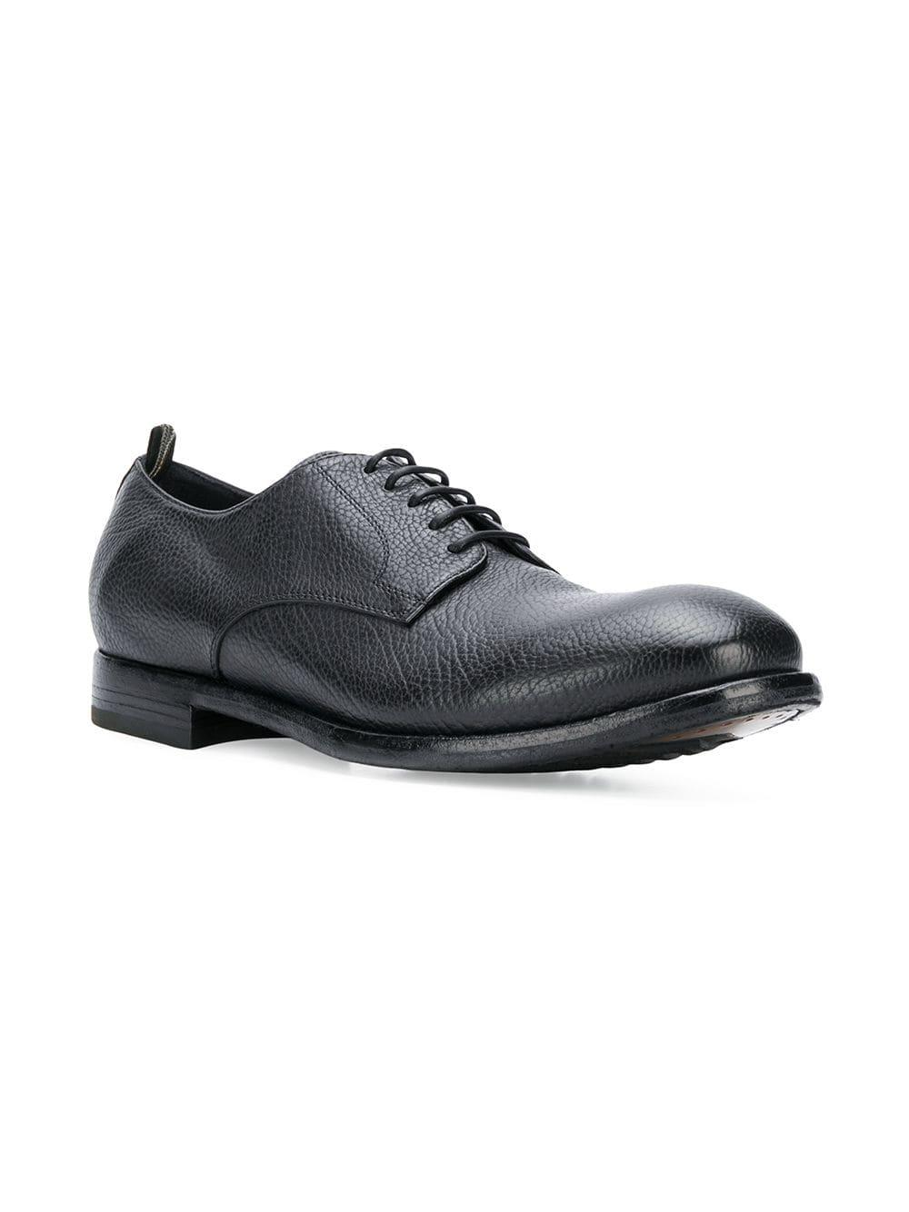 Officine Creative Leather Arbus Structured Lace-up Shoes in Black for Men