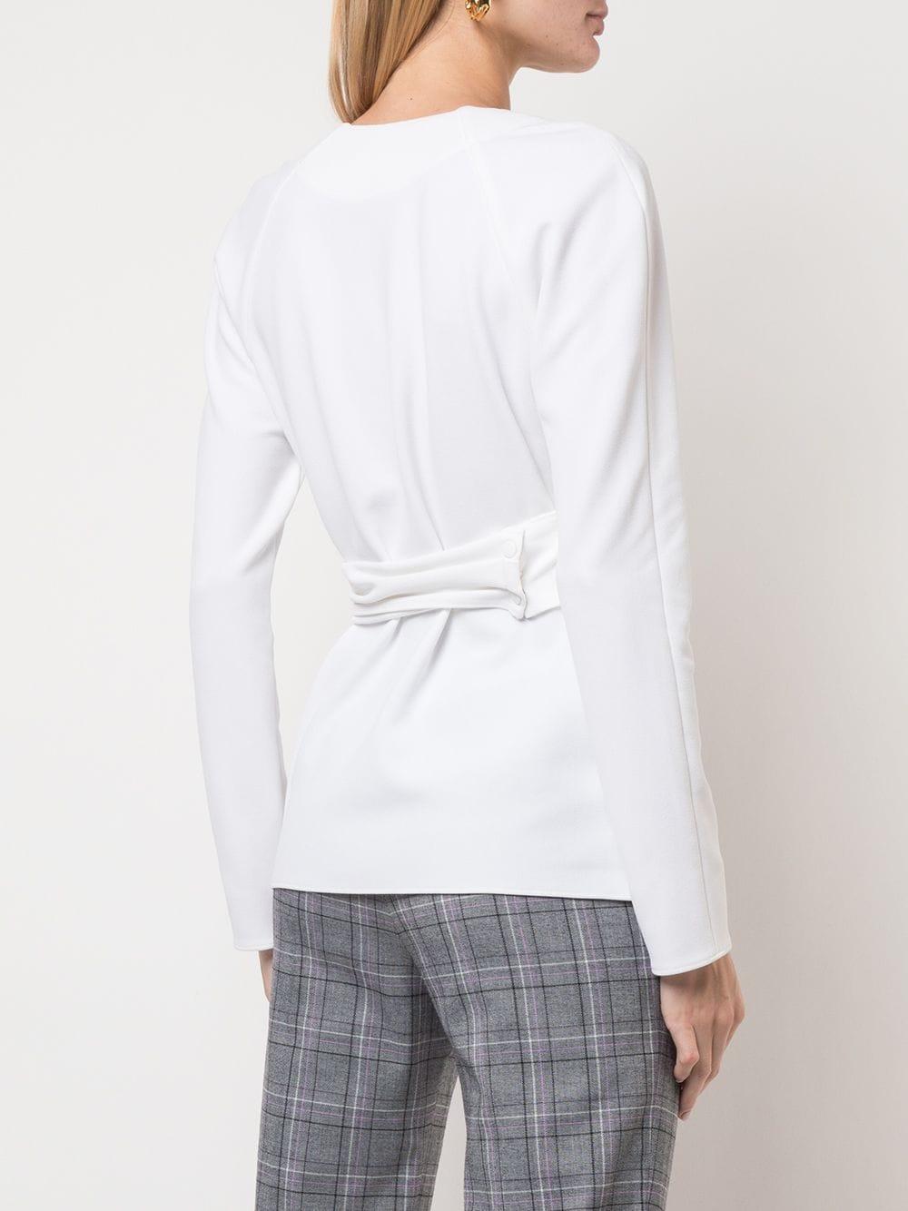 Top à design cache-cœur Synthétique Tibi en coloris Blanc