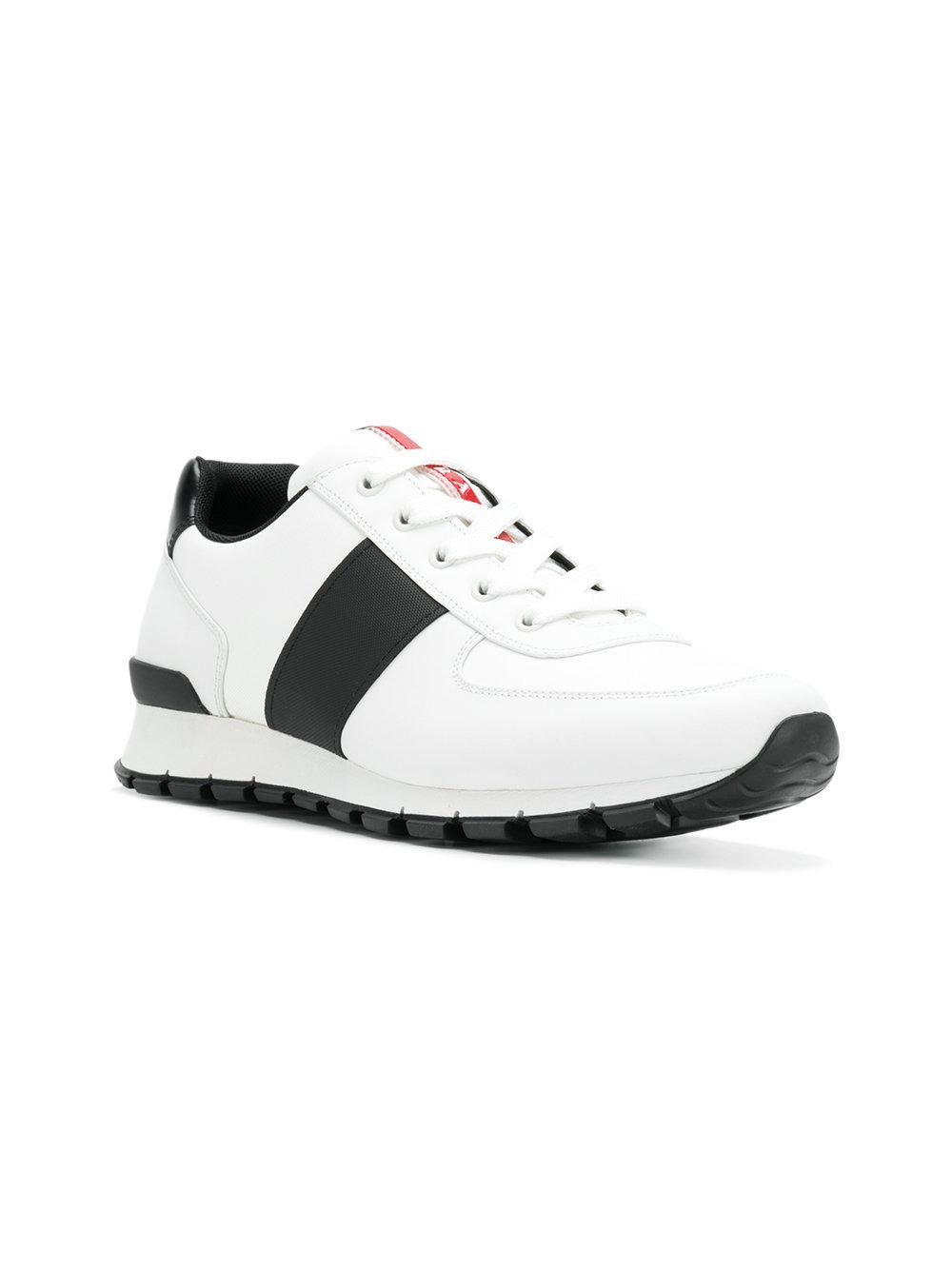 sports shoes fed96 10697 prada-White-Sporty-Panelled-Sneakers.jpeg