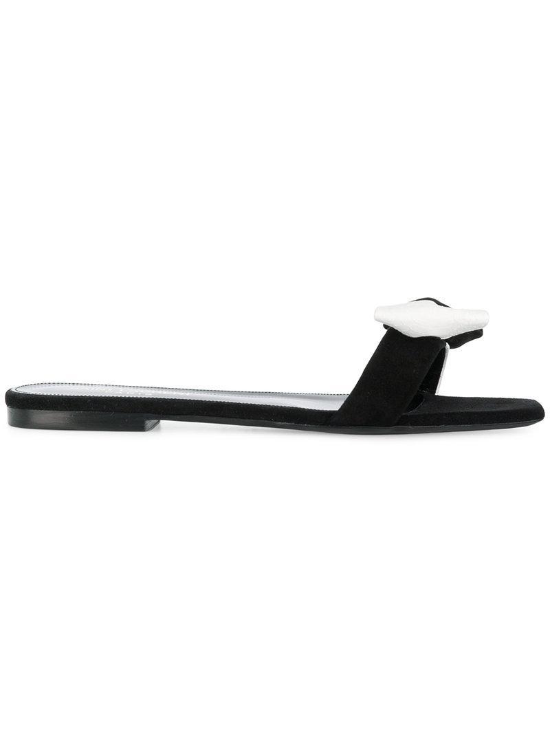 Saint Laurent Monochrome bow sandals 1fd6jLNV