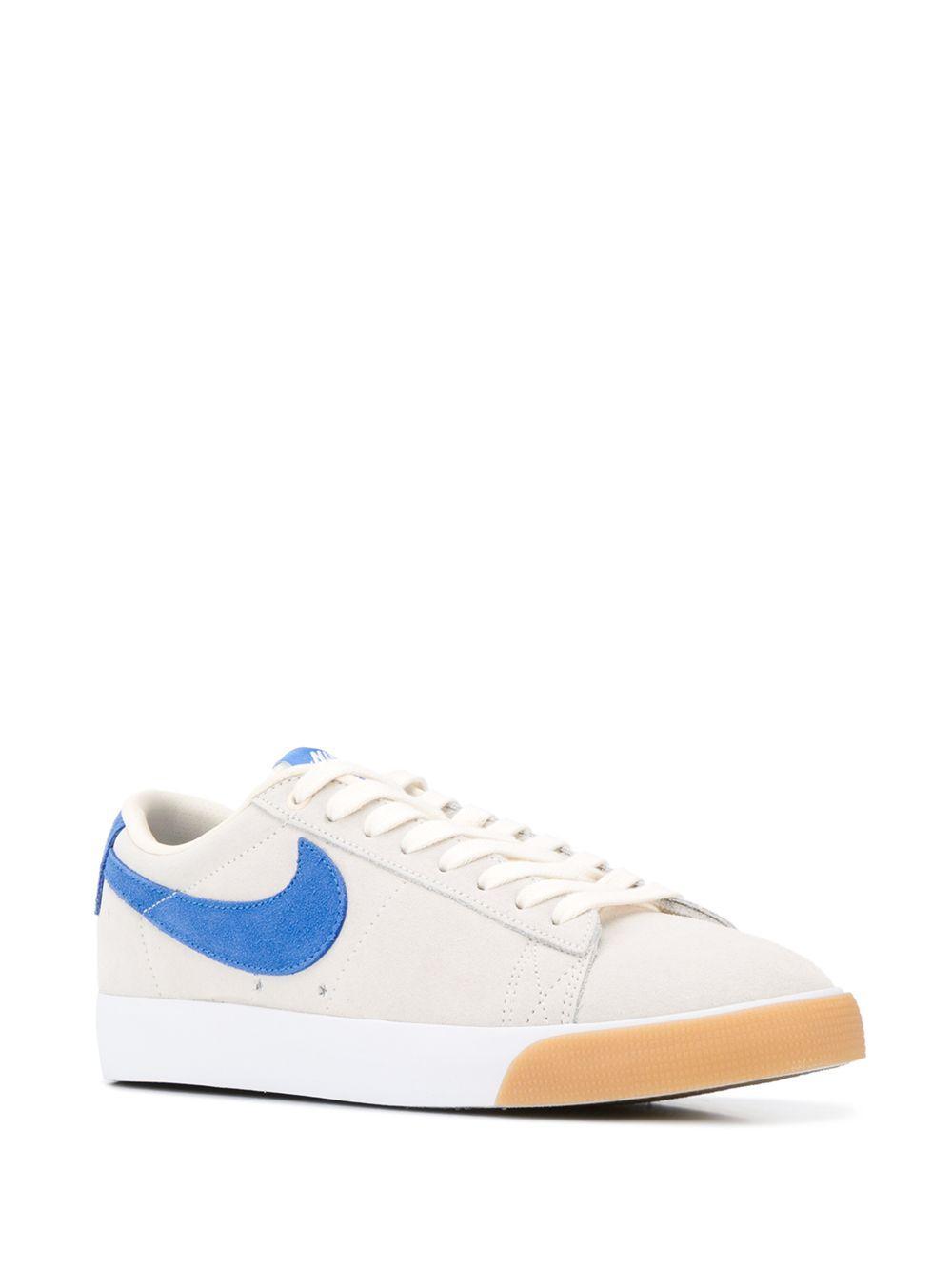 Nike Suède Tweekleurige Sneakers in het Wit voor heren