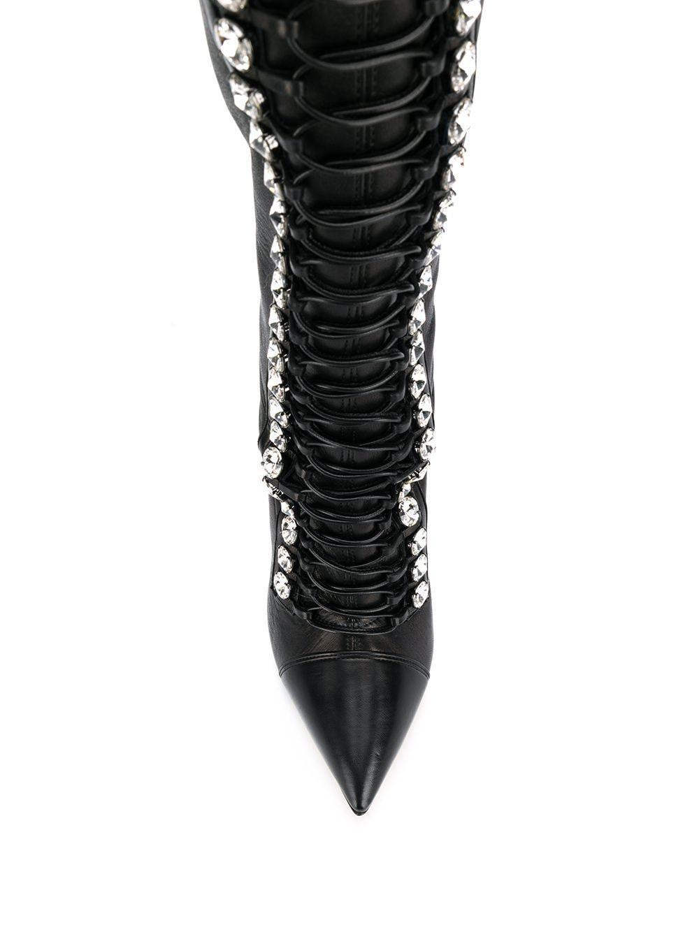 Botas altas con cordones Casadei de color Negro