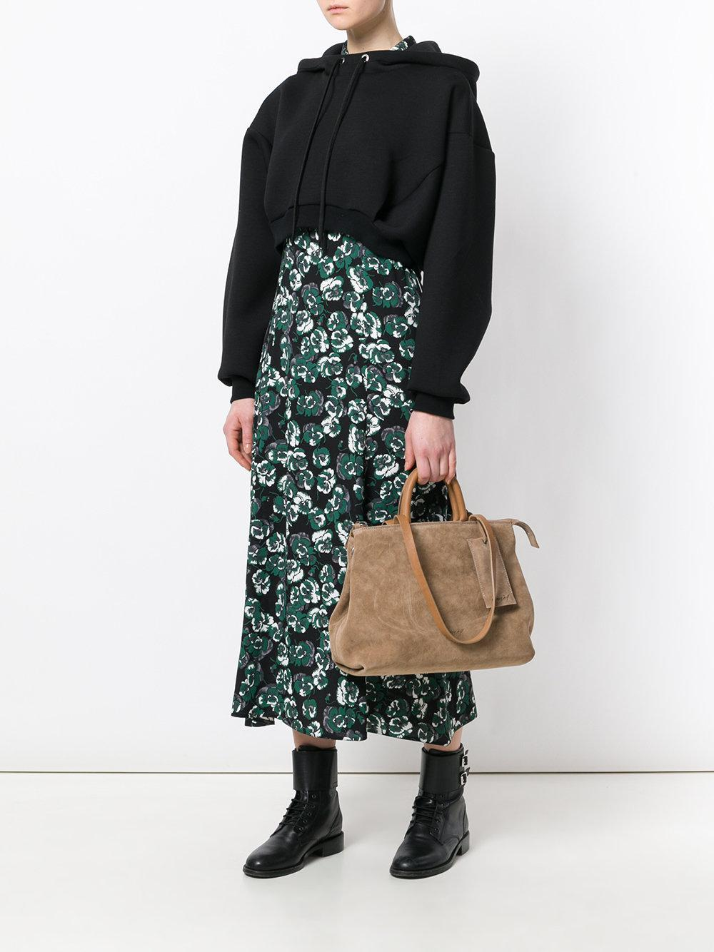 Marsèll Leather Large Tote in Brown