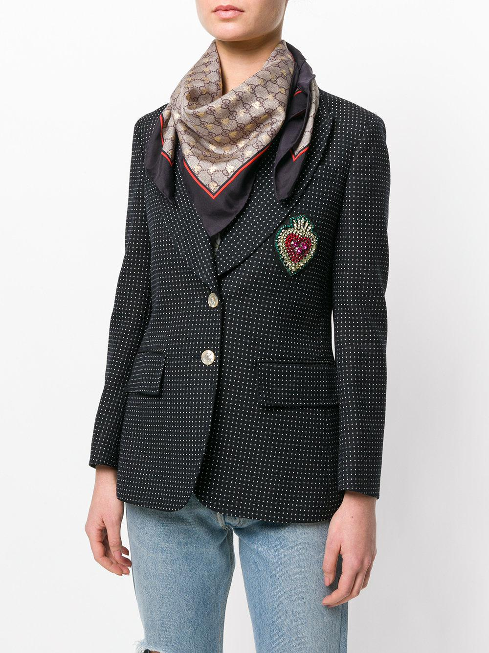 2223cb1c86 Gucci Gg Bees Scarf - Lyst