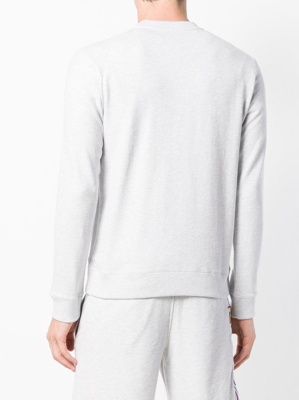 KENZO Cotton Tiger Embroidery Sweatshirt in Grey (Grey) for Men