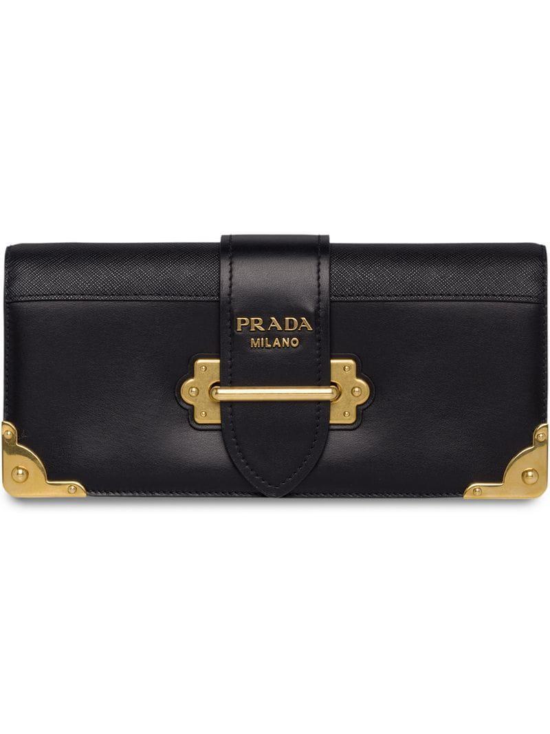 d9e238f2063b Lyst - Prada Cahier Clutch Bag in Black