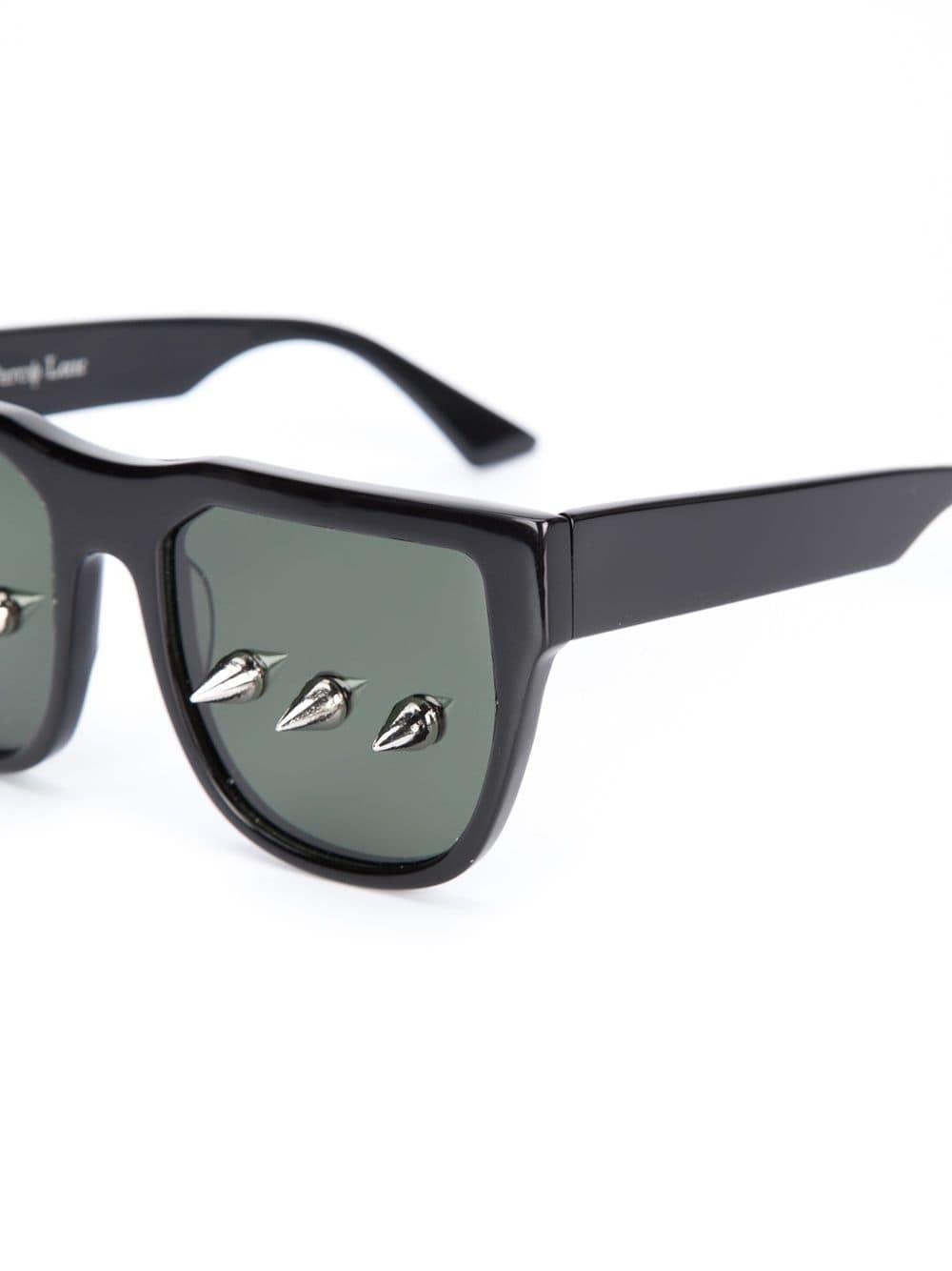 Percy Lau Studded Lens Sunglasses in Black