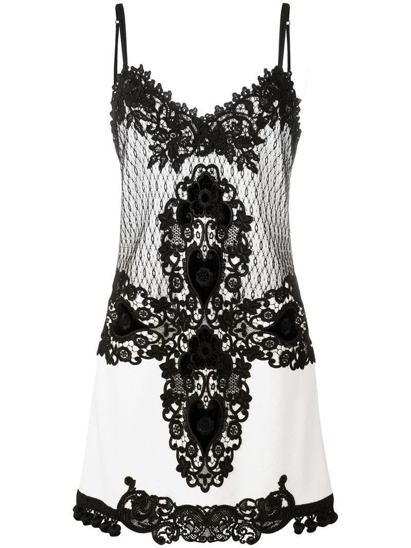 f76f5f1a61f8c Lyst - Fausto Puglisi Lace Slip-on Dress in White