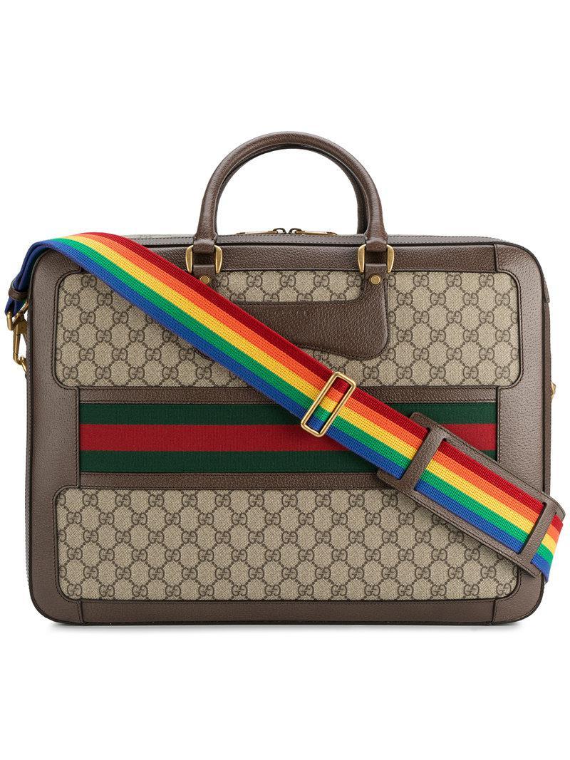 Lyst - Mallette GG Supreme Gucci pour homme en coloris Marron 40e3374905d