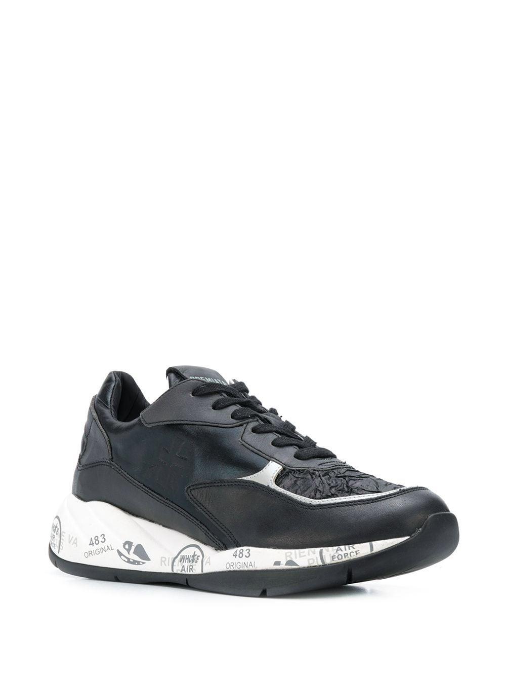 Zapatillas Scarlett Premiata de Cuero de color Negro