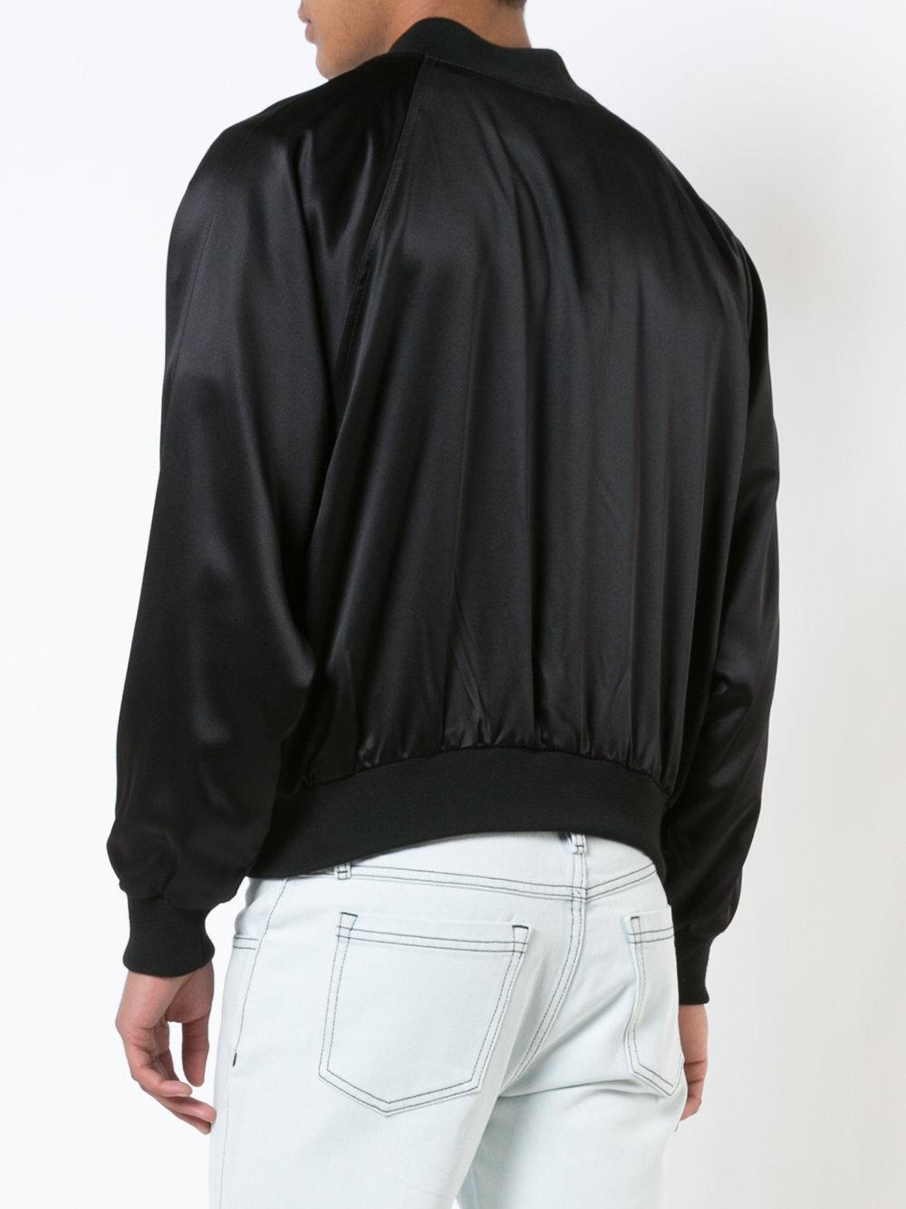 Enfants Riches Deprimes Silk Germs Bomber Jacket in Black for Men