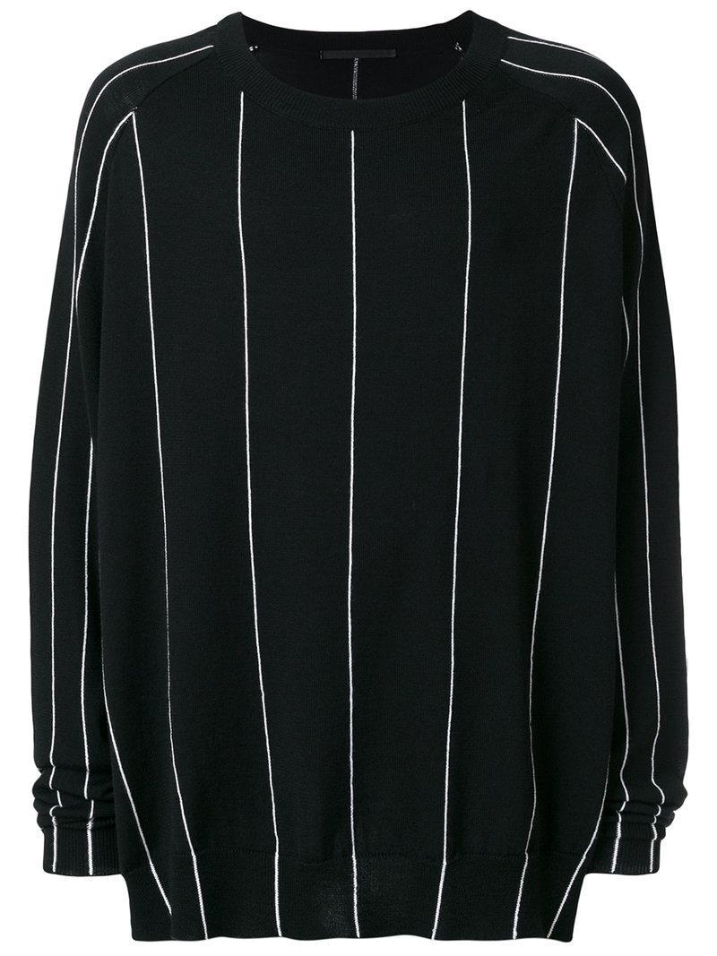 Haider Ackermann Wool Striped Jumper in Black for Men