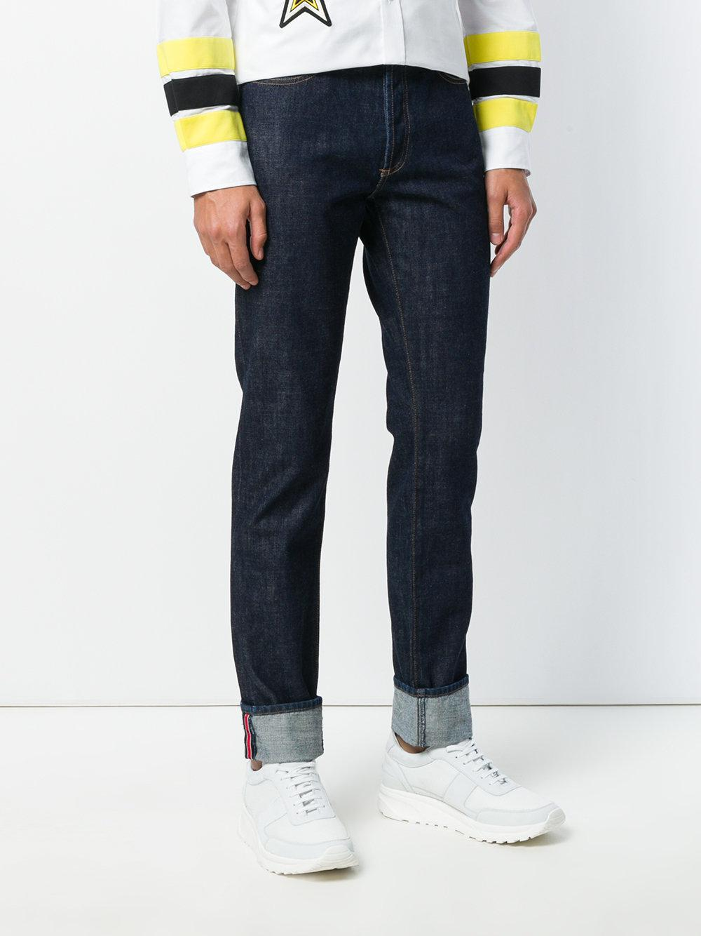Givenchy Denim Straight Leg Jeans in Blue for Men