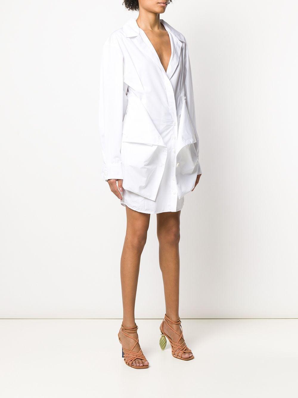 La Robe Murano Coton Jacquemus en coloris Blanc