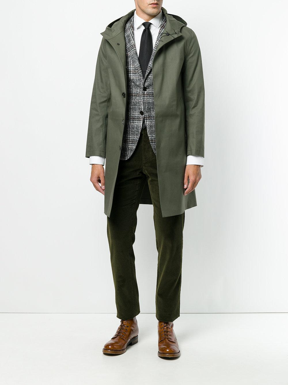Mackintosh Cotton Hooded Raincoat in Green for Men - Lyst