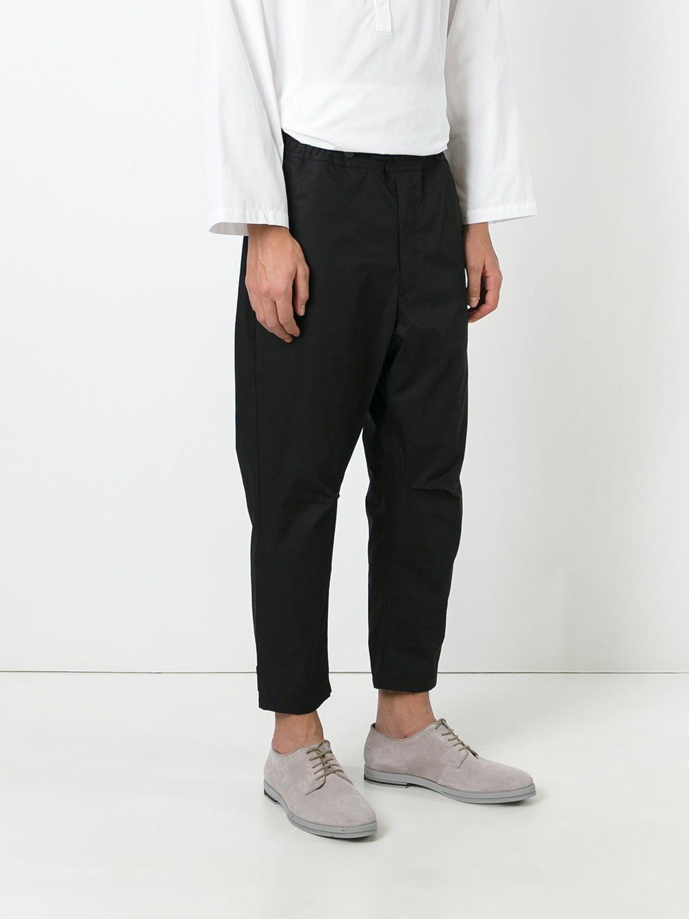 OAMC Cotton Drop-crotch Trousers in Black for Men