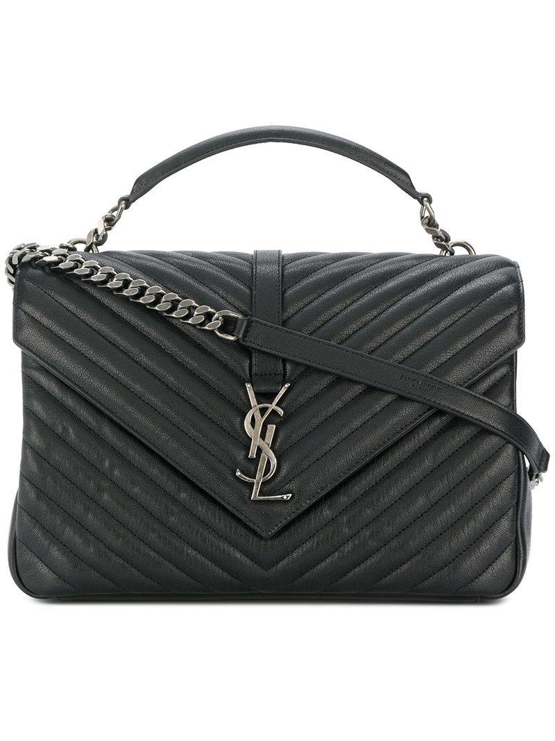 Lyst - Saint Laurent Collège Shoulder Bag in Black - Save 11% caafbe54e8bef