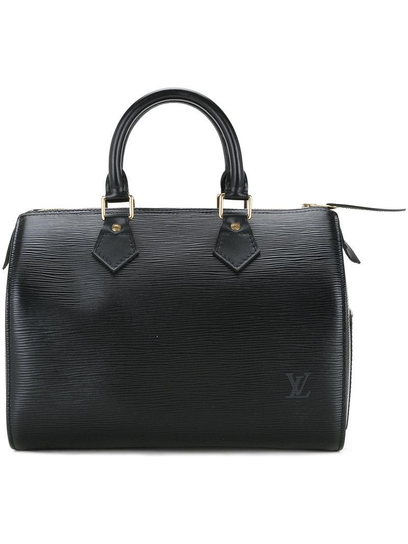 Lyst - Bolso estilo bowling Speedy 25 Louis Vuitton de color Negro 7360f9b1a2